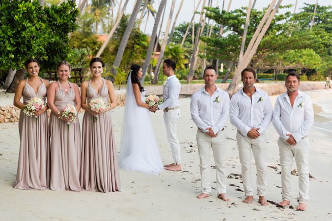 Blush Pearl Bridesmaids in Bali by Goddess By Nature - 005
