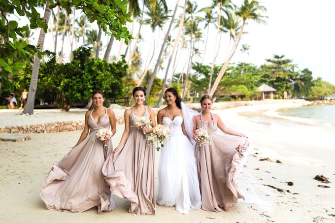 Blush Pearl Bridesmaids in Bali by Goddess By Nature - 003