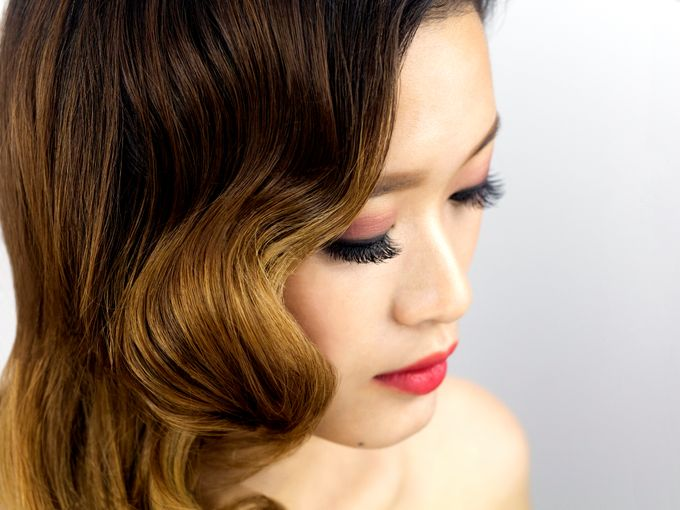 Vintage Elegant Makeup and Hairstyles by Sylvia Koh Makeup and Hairstyling - 002