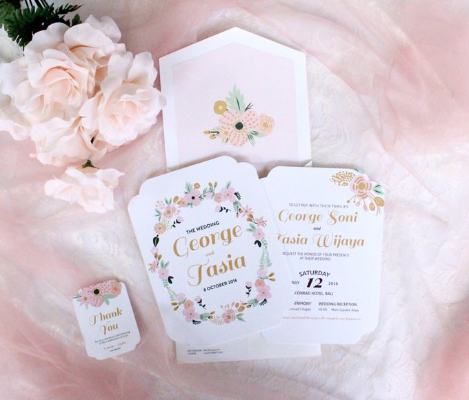 Floral single board invitation by mille paperie bridestory add to board floral single board invitation by mille paperie 003 stopboris Images