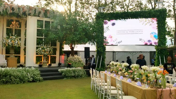 LED Rental for Garden Wedding Party by Studio Pro - 002
