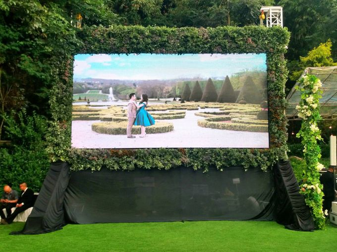 LED Rental for Garden Wedding Party by Studio Pro - 004