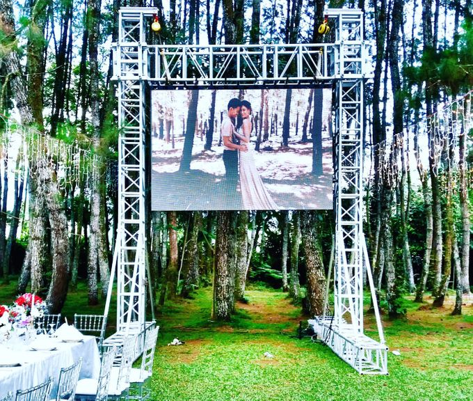 LED Rental for Garden Wedding Party by Studio Pro - 005