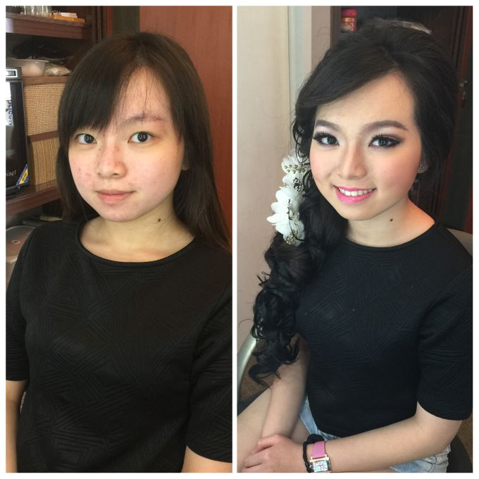 Makeup and Hairdo for Bride by Lee Cinthya Makeup Artist - 002