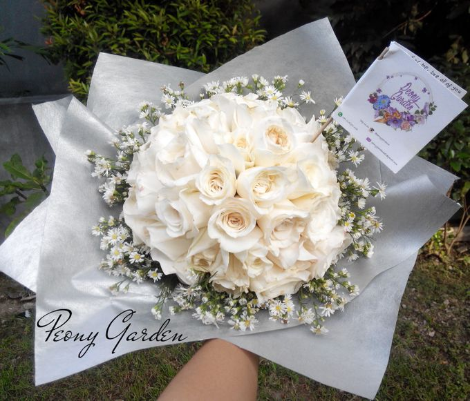 Peony Hand Bouquet by Peony Garden Bali - 009