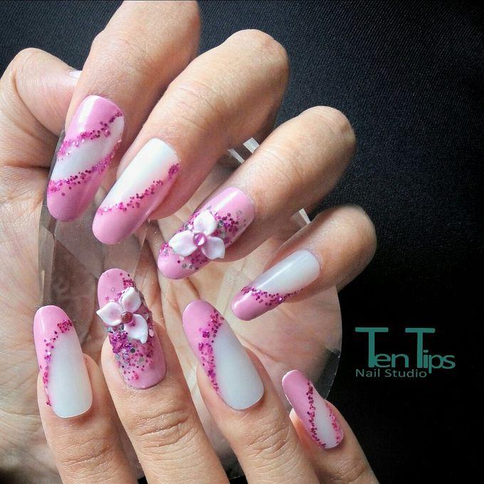 Wedding Nails by Ten Tips Nail Studio - 010