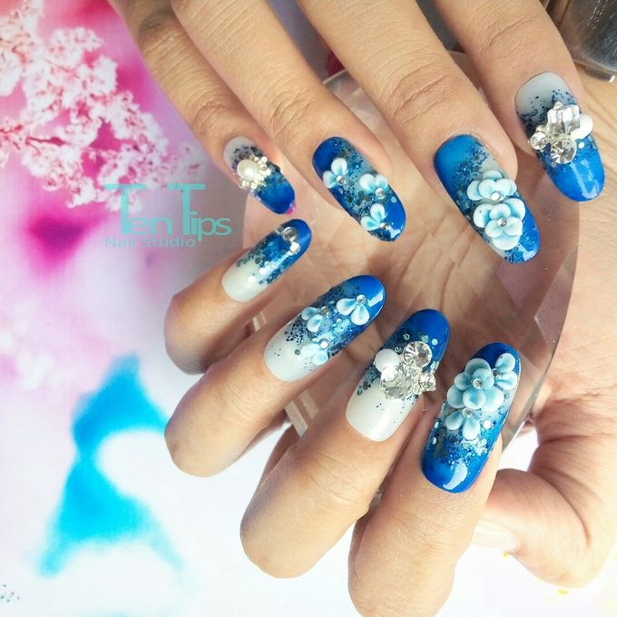 Wedding Nails by Ten Tips Nail Studio - 007