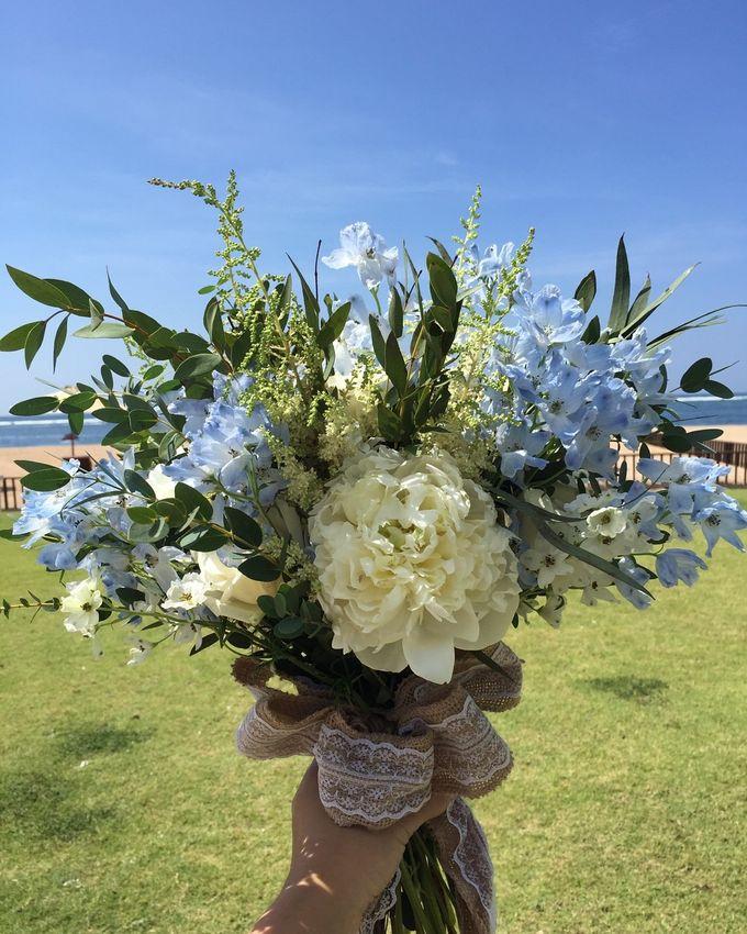 White & Blue Conrad Bali by Catalina Flora - 001