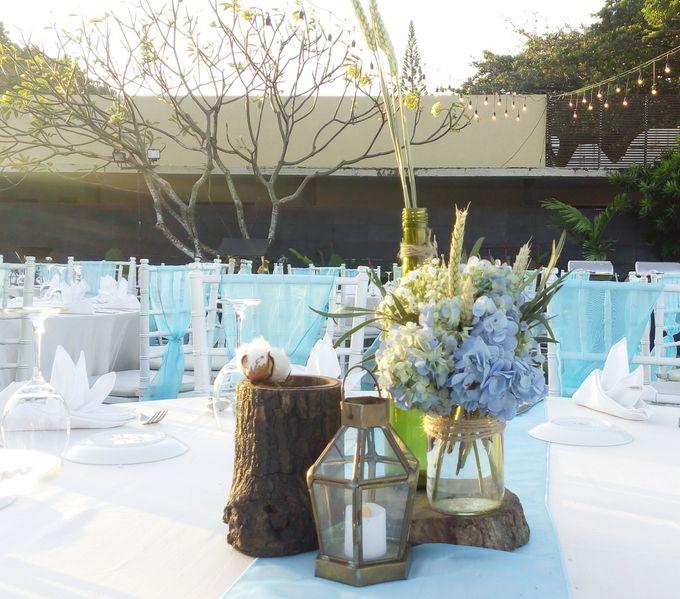 White & Blue Conrad Bali by Catalina Flora - 003