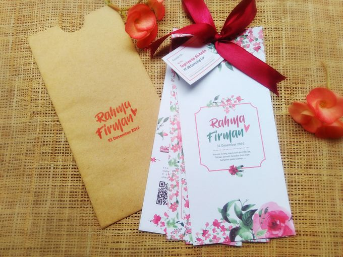 undangan handmade watercolor flowers by Merah Djamboe - 006