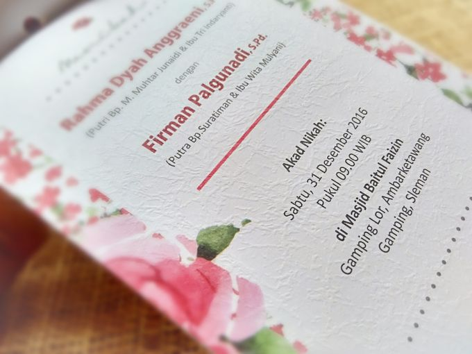 undangan handmade watercolor flowers by Merah Djamboe - 001