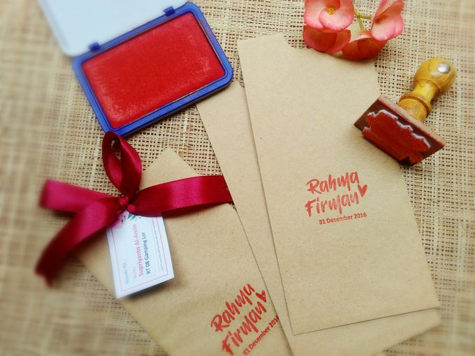 undangan handmade watercolor flowers by Merah Djamboe - 002