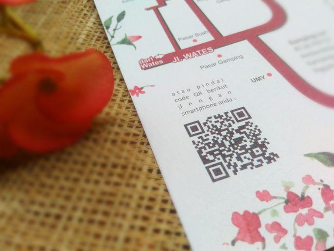 undangan handmade watercolor flowers by Merah Djamboe - 003