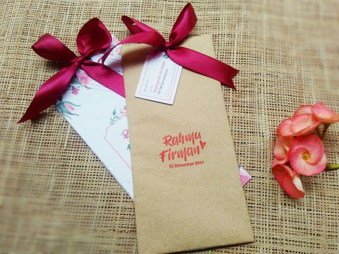 undangan handmade watercolor flowers by Merah Djamboe - 005