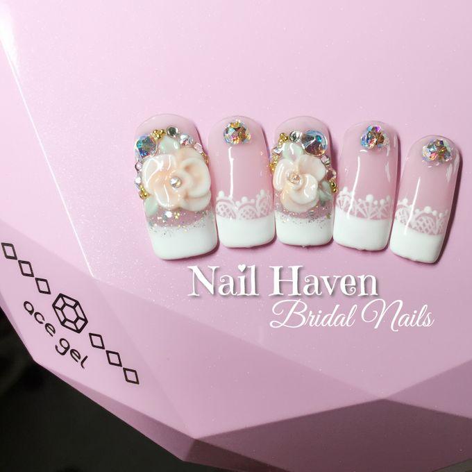 Customized Bridal Nailart by Nail Haven - 004