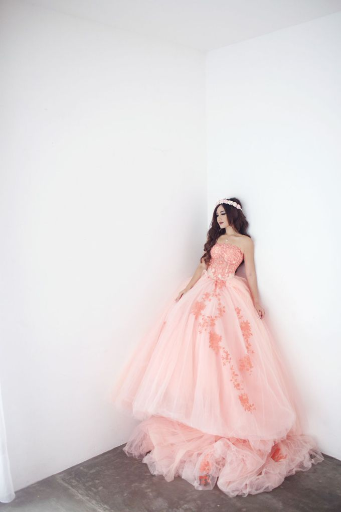 A touch of peach by The Penthouse Dress - 009