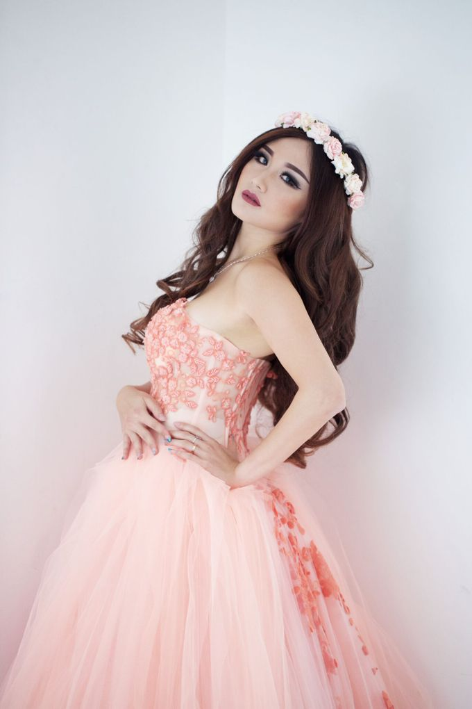 A touch of peach by The Penthouse Dress - 006