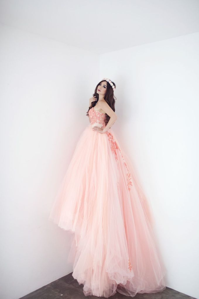 A touch of peach by The Penthouse Dress - 004