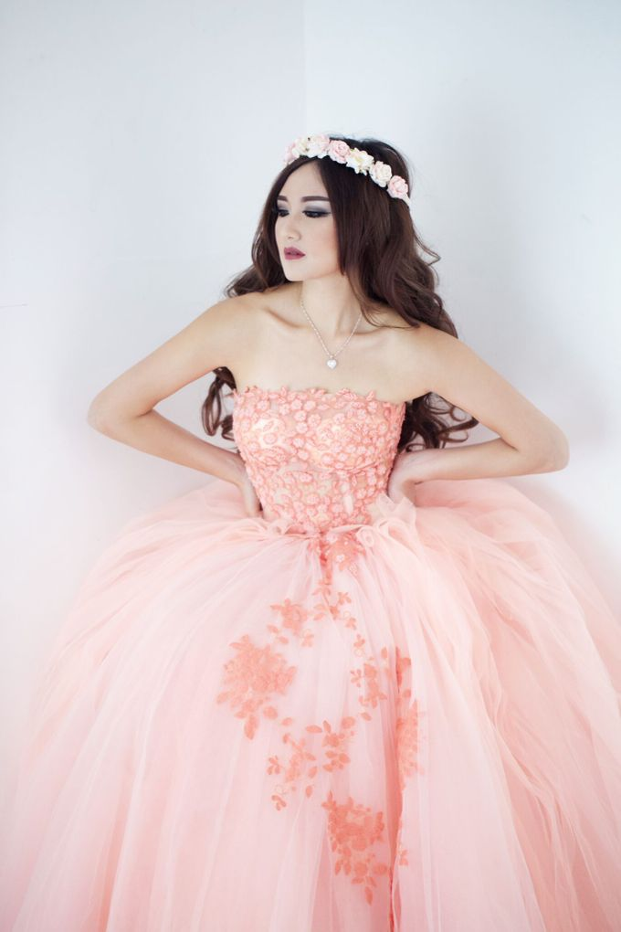 A touch of peach by The Penthouse Dress - 003
