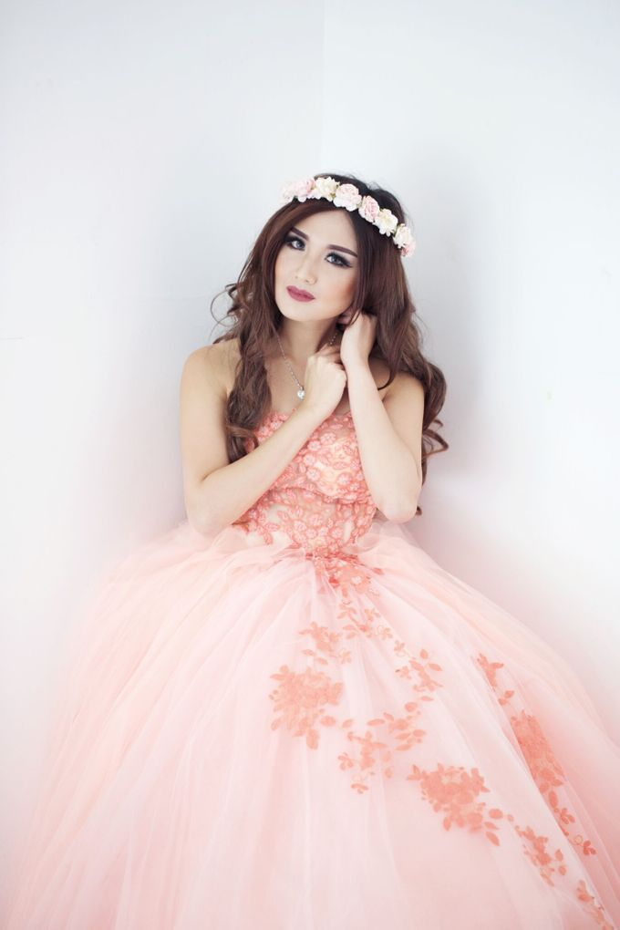 A touch of peach by The Penthouse Dress - 001