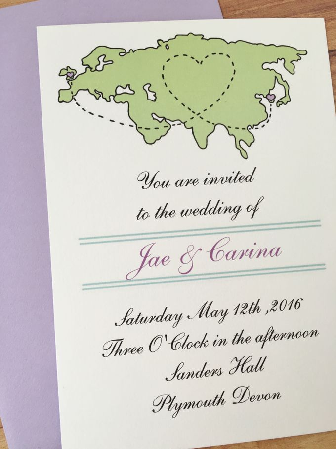 Long distance wedding invitations by Fancy Paperie - 001