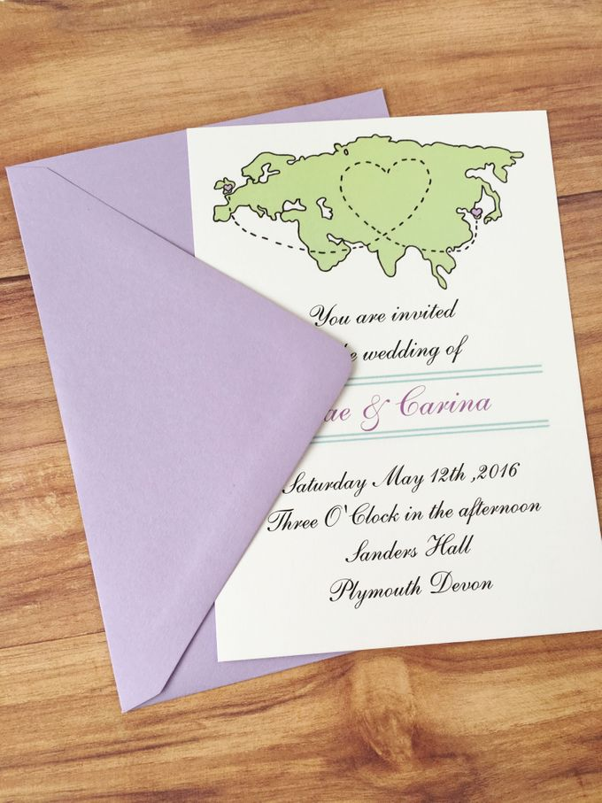 Long distance wedding invitations by Fancy Paperie - 004