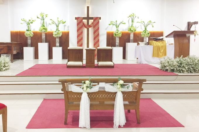 Holy Ceremony in GKJ Jakarta by CITTA Wedding - 005