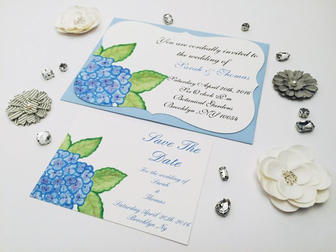water color hydrangea invitation set by Fancy Paperie - 002