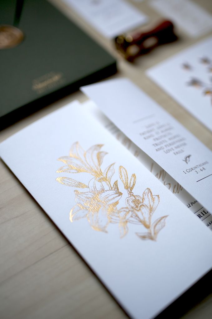 Gold Leaves by Forget Me Not Invitation - 002