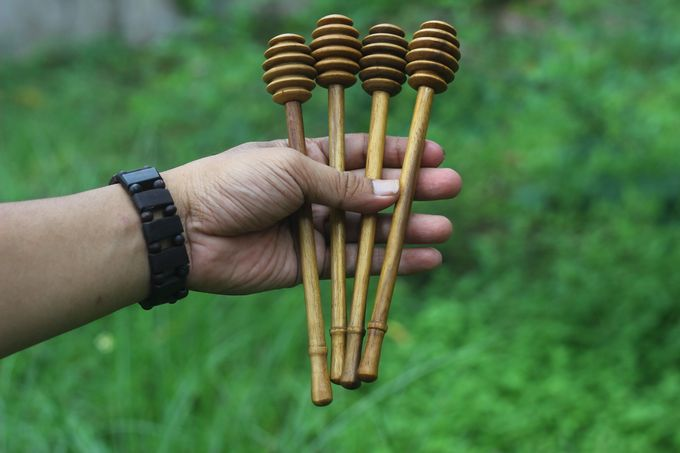 Honey Dipper Long Handle Teakwood by sakacraft - 004