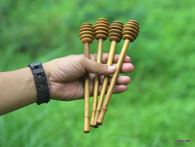 Honey Dipper Long Handle Teakwood by sakacraft - 001