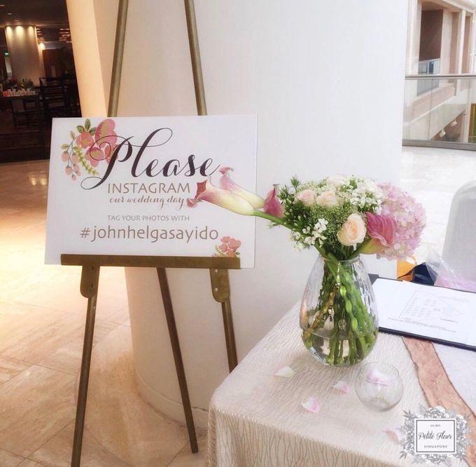 Solemnization / Reception Table / Wedding Venue Decoration by Petite Fleur SG - 032