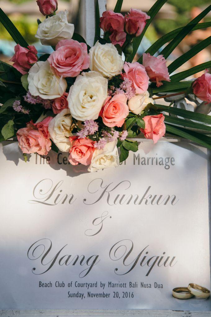 Wedding of Lin Kunkun and Yang Yiqiu by Courtyard by Marriott Bali Nusa Dua - 019