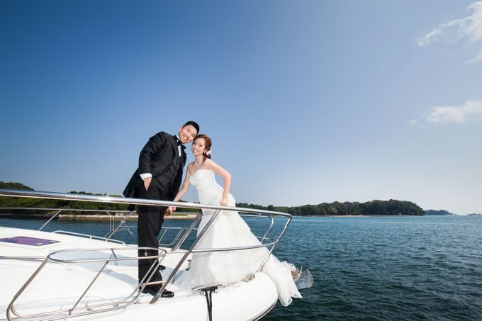 Pre-wedding shoot on yacht by ONE°15 Marina Sentosa Cove, Singapore - 005