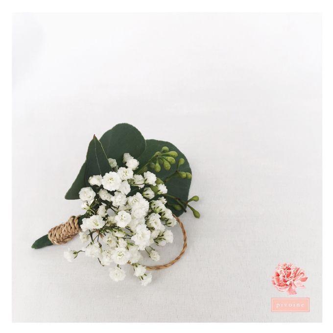 boutonniere by Pivoine Flower Shop - 005