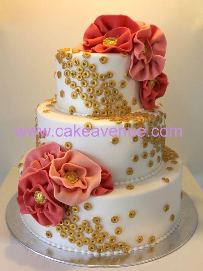 3-tier Customised Wedding Cakes by Cake Avenue - 002
