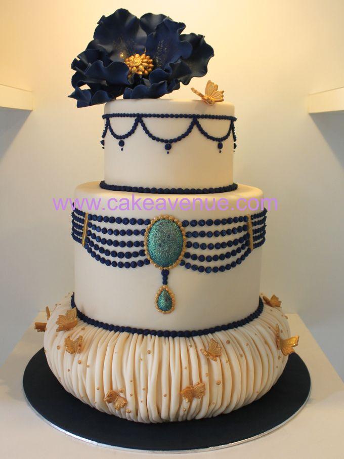 3-tier Customised Wedding Cakes by Cake Avenue - 003