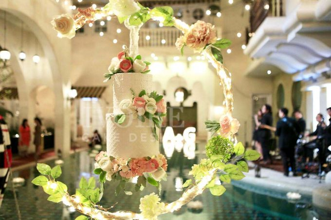 Intimate Wedding - Morocco House Jakarta by Ivoire Cake Design - 001