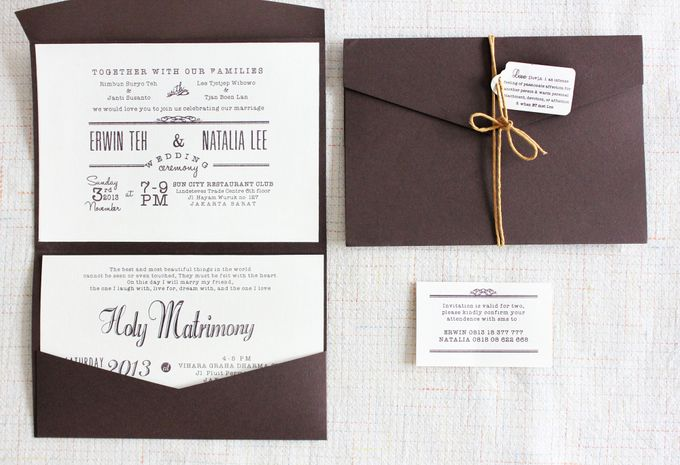INVITATION - SIMPLY RUSTIC by The Bride and Butter - 001