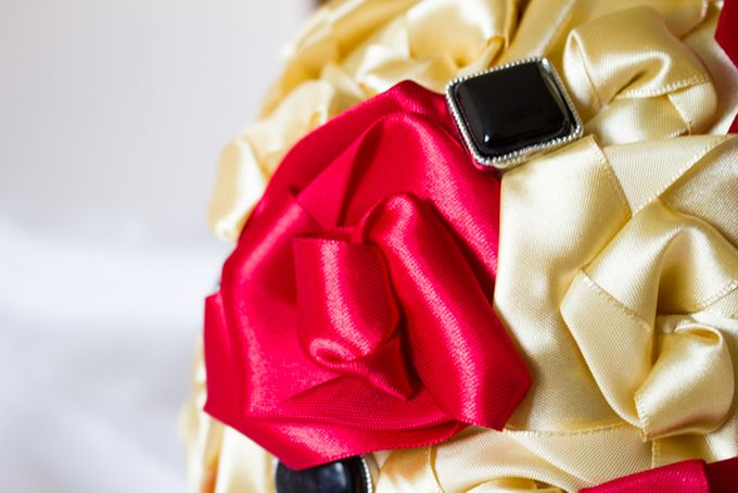 Golden Rose Bridal Brooch Bouquet by Marini Bouquets - 003