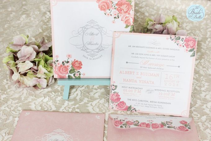 INVITATION - GARDEN ROSES by The Bride and Butter - 002