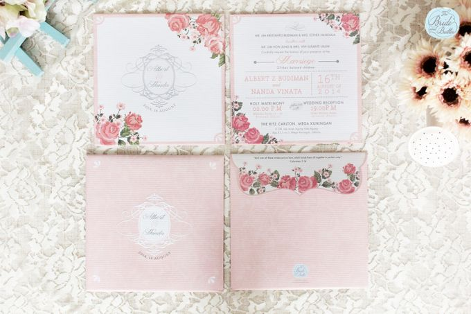 INVITATION - GARDEN ROSES by The Bride and Butter - 001