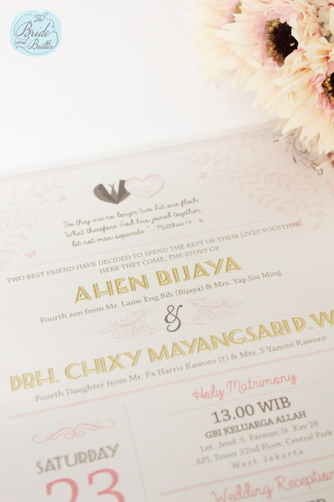 INVITATION - beautiful in pink by The Bride and Butter - 006