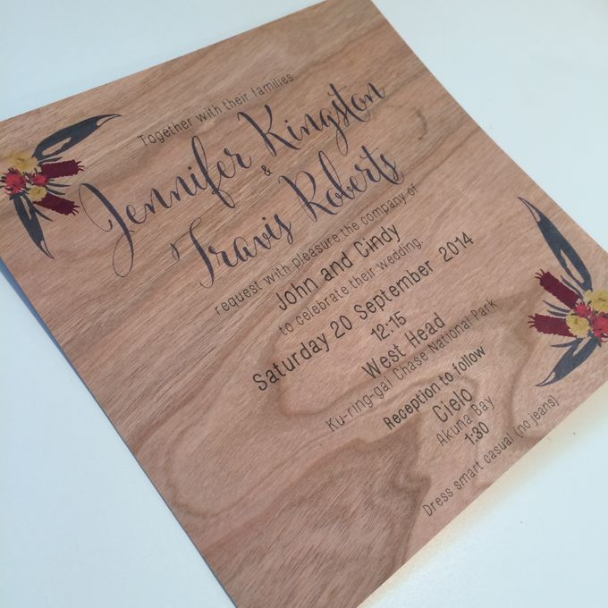 Mahogany Wood with Australian Naties by Little Paper Lane - 001