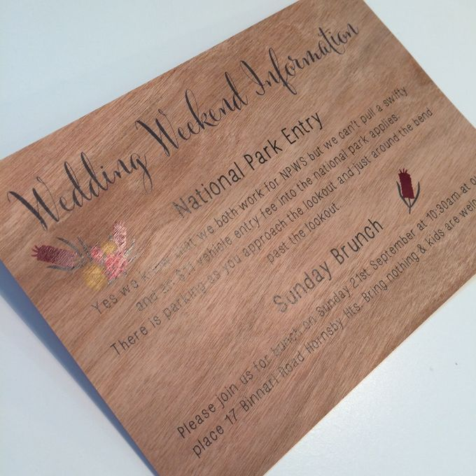 Mahogany Wood with Australian Naties by Little Paper Lane - 003