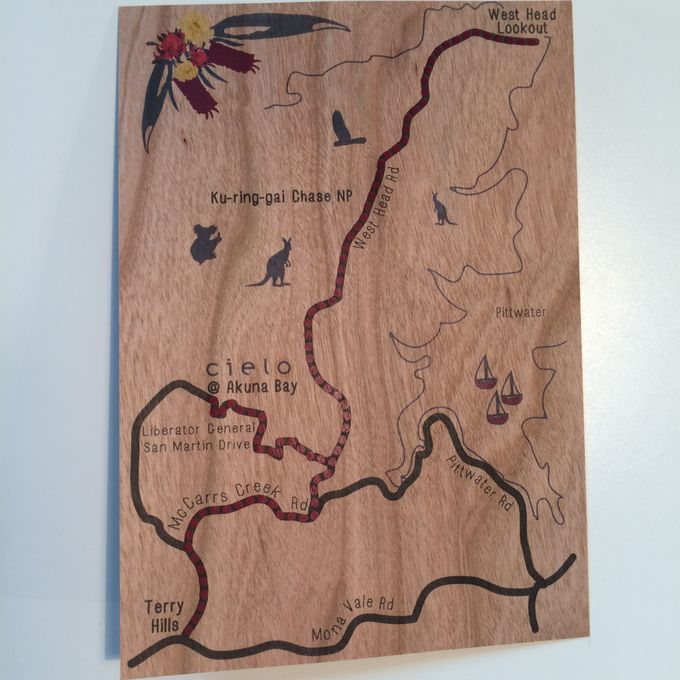 Mahogany Wood with Australian Naties by Little Paper Lane - 004