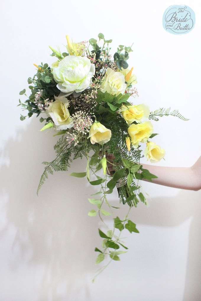 Custom Hand Bouquet by The Bride and Butter - 014