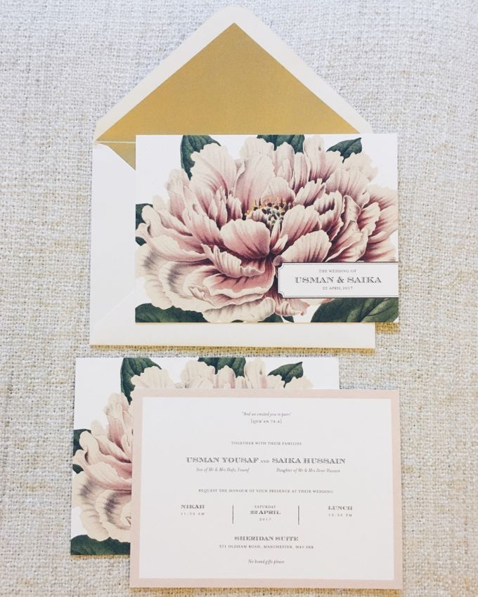 Lush Peonies by Spinsugar Stationery - 005