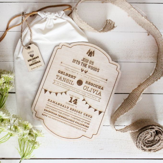 INVITATION - into the woods by The Bride and Butter - 001