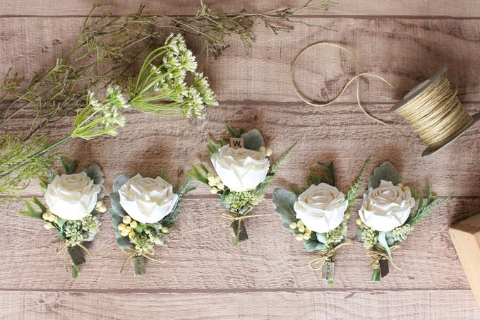 Custom Boutonniere / Corsage by The Bride and Butter - 047